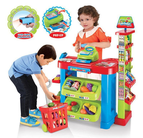 Berry Toys BR008-85 Play All Day Supermarket Play Set - FunRidingToys.com