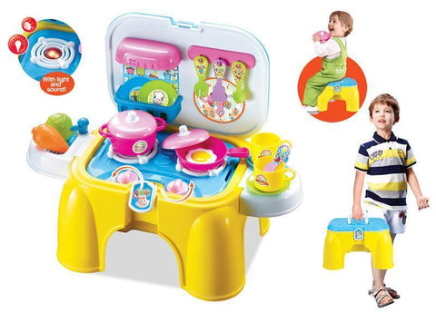 Berry Toys BR008-98 My First Portable Play & Carry Kitchen Play Set - FunRidingToys.com