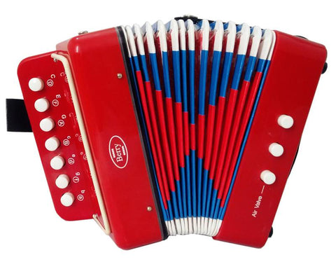 Berry Toys MKAG-KA2BS-RD Kids Junior Accordion - Red - FunRidingToys.com