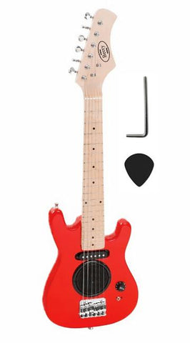 "Berry Toys MKAGT30-AMP1-RD 30"" Electric Guitar with Built-in Speaker - Red - FunRidingToys.com"