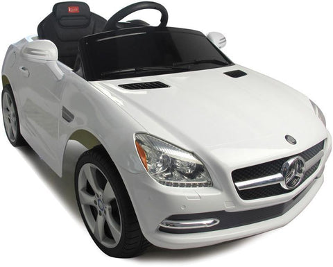 Vroom Rider VR81200-WH Mercedes-Benz SLK Rastar 6V - Battery Operated/Remote Controlled (White) - Peazz.com