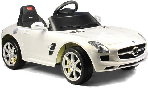 Vroom Rider VR81600-WH Mercedes-Benz SLS AMG Rastar 6V - Battery Operated/Remote Controlled (White) - Peazz.com