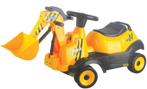 Vroom Rider VRBR03 Battery Operated 6V Ride-on 4-Wheel Bulldozer - Peazz.com