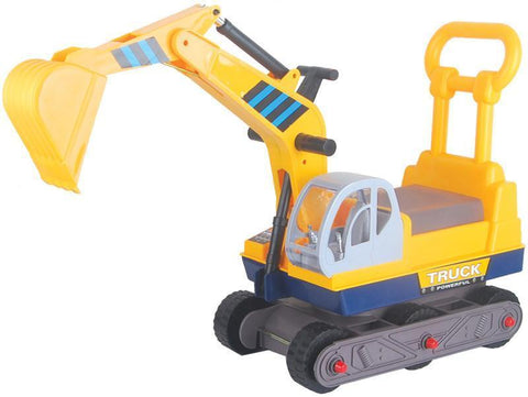 Vroom Rider VREX02 Ride-on 6-Wheel Excavator On Wheels with Back - Peazz.com