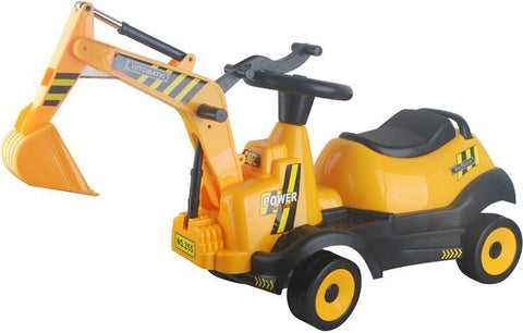 Vroom Rider VREX04 Battery Operated 6V Ride-on 4-Wheel Excavator - Peazz.com