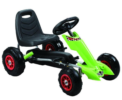 Vroom Rider VRPK06-GRN Zoom Pedal Go-Kart w/ Pneumatic Tire - Green - Peazz.com