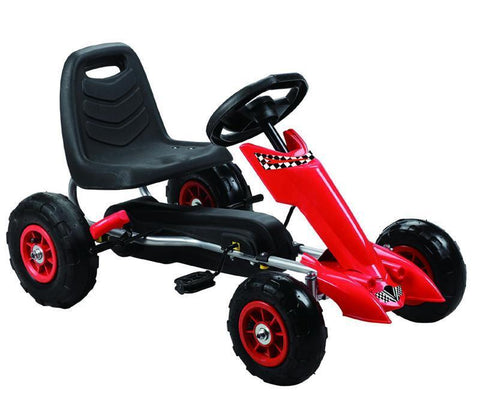 Vroom Rider VRPK06-RED Zoom Pedal Go-Kart w/ Pneumatic Tire - Red - Peazz.com
