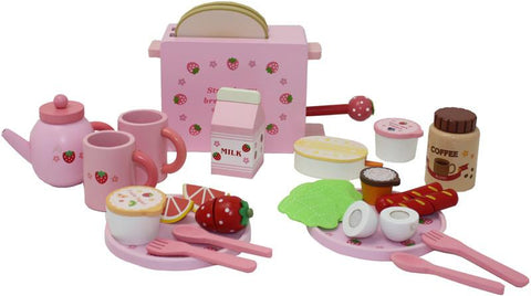 Berry Toys WJ279036 Complete Healthy Breakfast Wooden Play Food Set - FunRidingToys.com