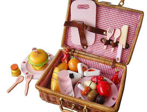 Berry Toys WJ279041 My Picnic Wooden Play Food - FunRidingToys.com