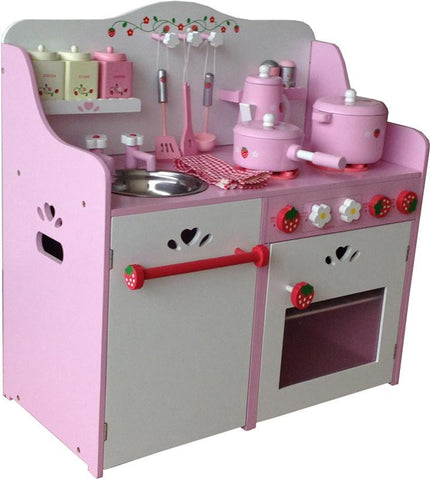 Berry Toys WJ279058 My Strawberry Wooden Play Kitchen - FunRidingToys.com