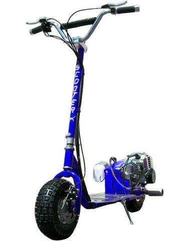 ScooterX Dirt Dog 49cc Blue Gas Scooter - FunRidingToys.com