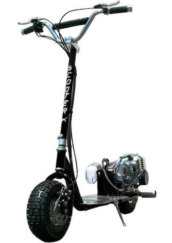 ScooterX Dirt Dog 49cc Black Gas Scooter - Peazz.com