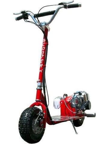 ScooterX Dirt Dog 49cc Red Gas Scooter - FunRidingToys.com