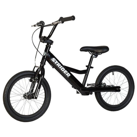 Strider 16 Sport No-Pedal Balance Bike - BLACK - Peazz.com