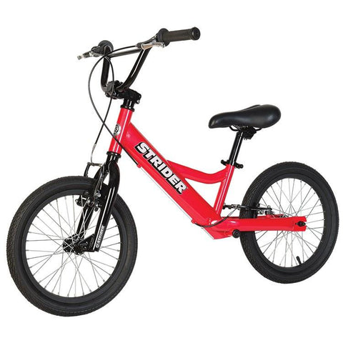 Strider 16 Sport No-Pedal Balance Bike - RED - Peazz.com