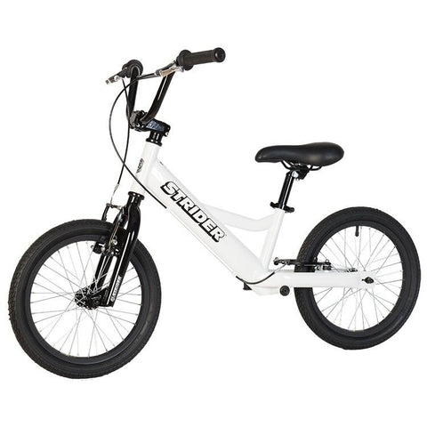 Strider 16 Sport No-Pedal Balance Bike - WHITE - Peazz.com