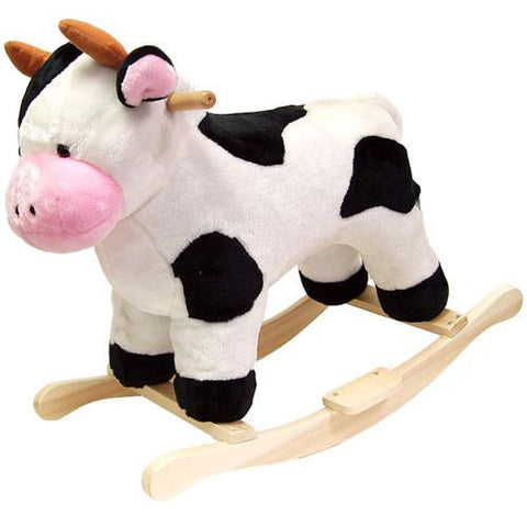 Cow Plush Rocking Animal - FunRidingToys.com