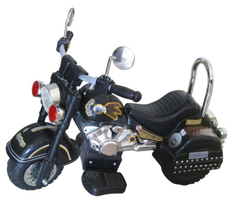Harley Style 6V Battery Operated Kids Motorcycle (Black) - Peazz.com
