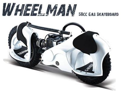 Wheelman 50cc Skateboard White - Peazz.com