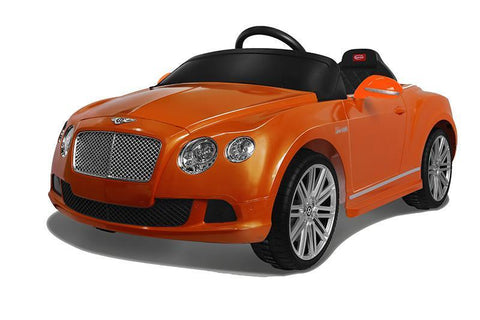 Vroom Rider VR82100-OR Bentley GTC Rastar 6V - Battery Operated/Remote Controlled (Orange) - Peazz.com