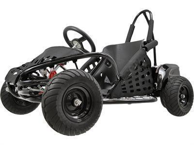 MotoTec MT-GK-01_Black Off Road Go Kart 48v 1000w Black - Peazz.com