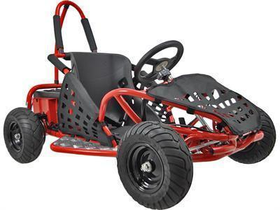 MotoTec MT-GK-01_Red Off Road Go Kart 48v 1000w Red - FunRidingToys.com