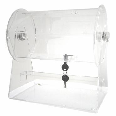 Merske RFL-AC-S Acrylic Small Raffle Ticket Drum - Peazz.com