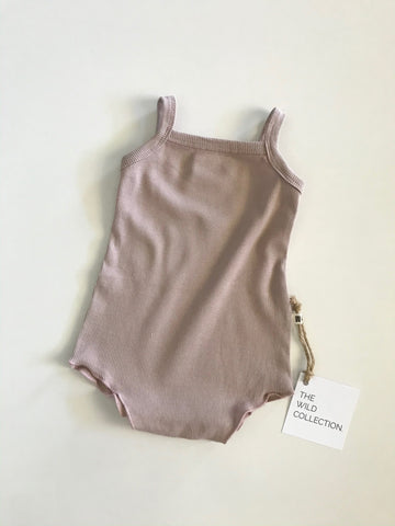 Cotton Romper - Taupe