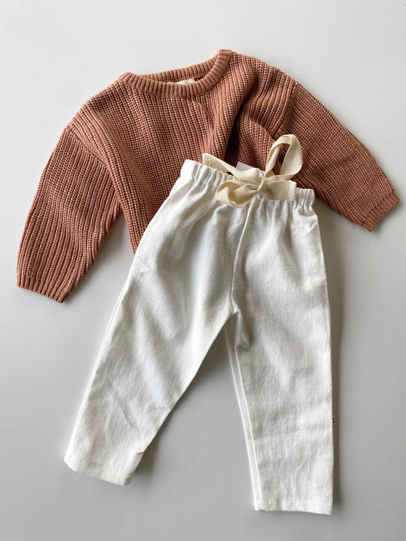 Relaxed Linen Pants - Snow