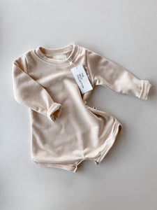 French Terry Romper - Cream