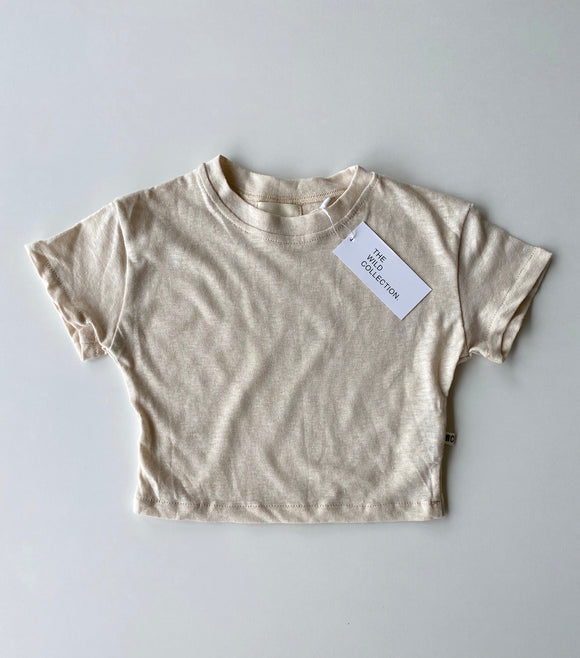 Kids Staple Tee - Vanilla Custard