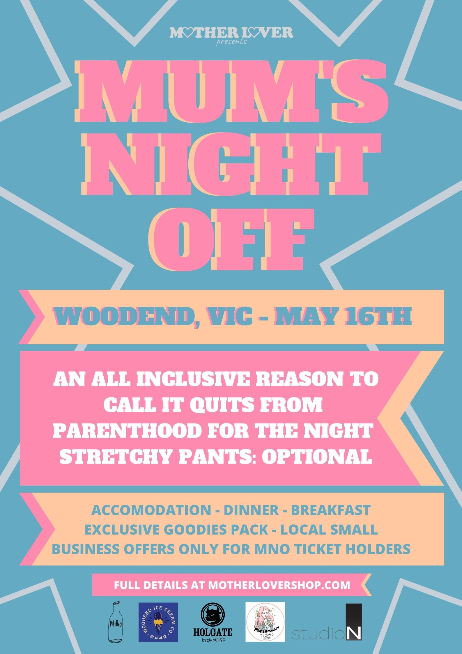 Mum's Night Off Event Poster