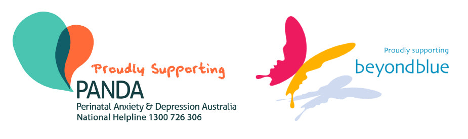 Proudly supporting PANDA Perinatal Anxiety & Depression Australia and Beyond Blue