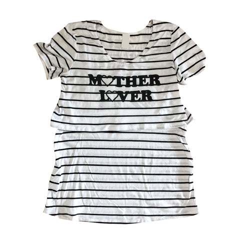 Upcycled Mother Lover Maternity Tee