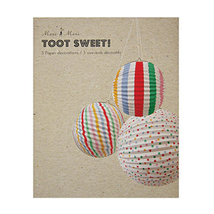 Spots & Stripes Paper Globe Decorations