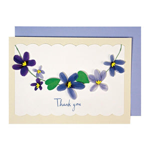 Garland of Violets Thank You Card
