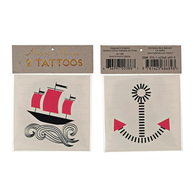 Boat And Anchor Tattoos