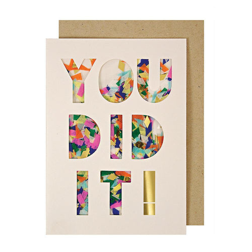 You Did It! Confetti Shaker Greeting Card