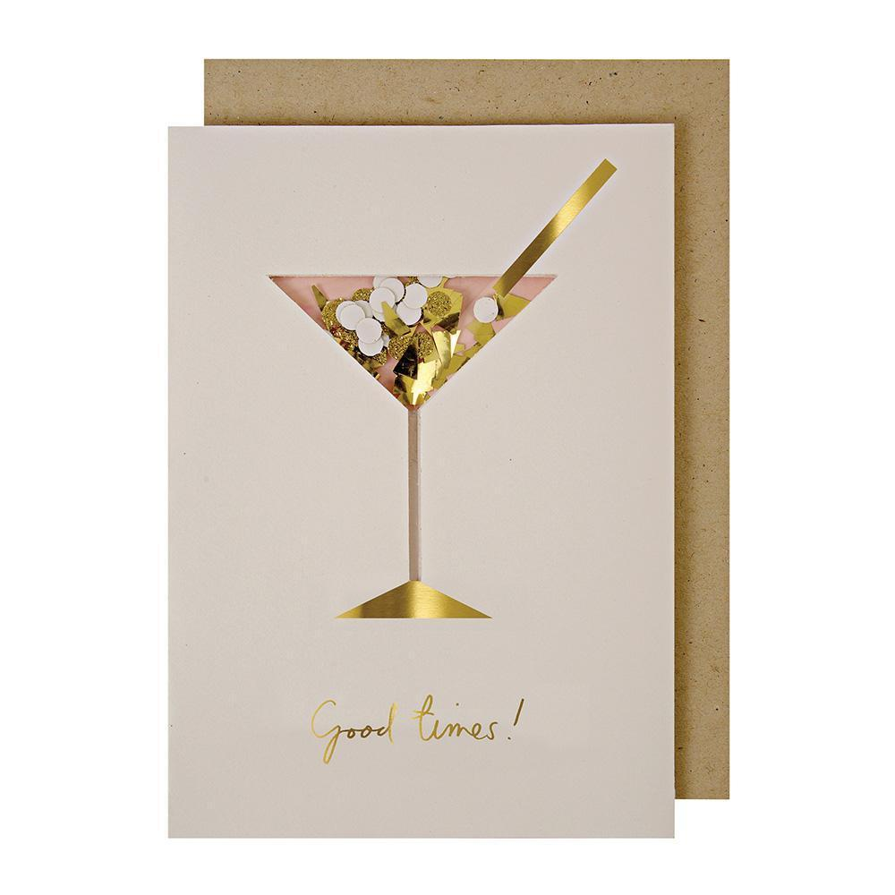 Cocktail Confetti Shaker Greeting Card