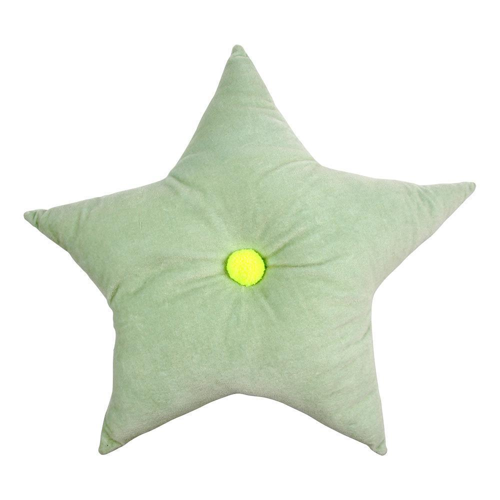 Velvet Star Cushion Mint