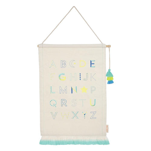 Blue Alphabet Wall Hanging