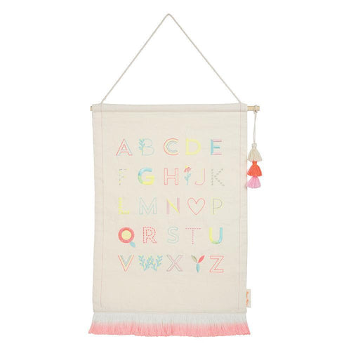 Pink Alphabet Wall Hanging