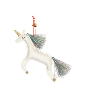 Unicorn Glitter Fabric Tree Decoration