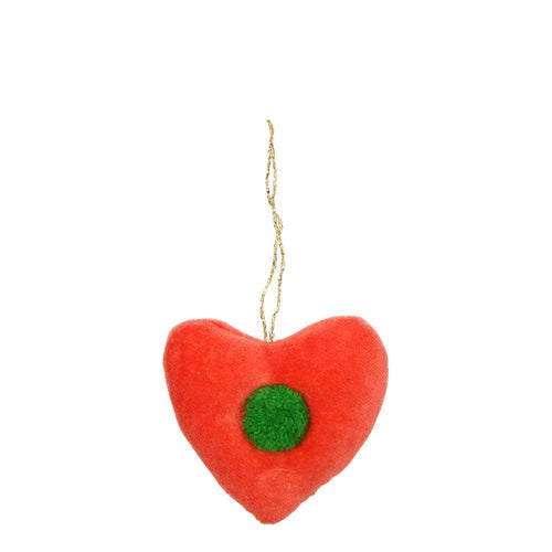 Red Heart Tree Decorations