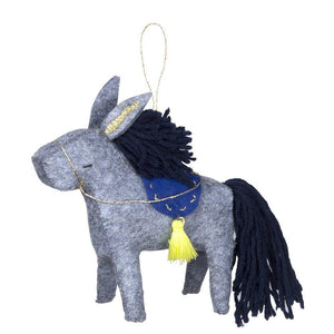 Donkey Felt Tree Decoration