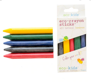 5 pack of eco crayon sticks