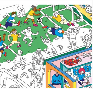 Football-Soccer Coloring Poster