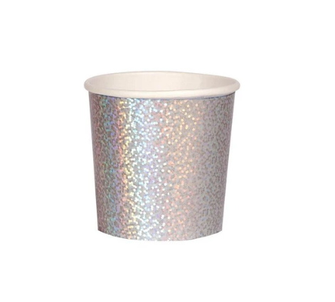Silver Sparkle Tumbler Cups