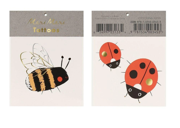 Bee & Ladybird Small Tattos