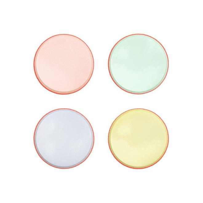 Pastel Neon Edge Cocktail Plates